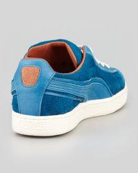 Alexander McQueen X Puma - Amq Suede Laceup Sneaker Blue for Men - Lyst