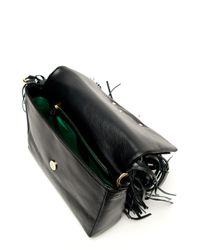 Sara Battaglia Teresa Fringe Shoulder Bag In Black Lyst