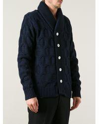 S.N.S Herning Blue Wool Cardigan for men