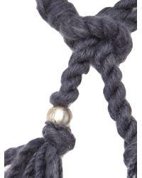 The Elder Statesman - Gray Cashmere Bracelet - Lyst