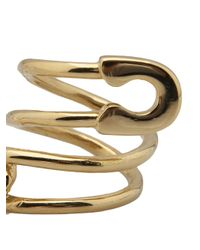 Tom Binns Metallic Twisted Safety Pin Ring