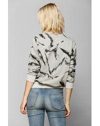 Urban Outfitters - Gray Your Eyes Lie Bird Flock Pullover Sweatshirt - Lyst