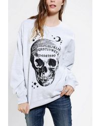 Urban Outfitters | Gray Ouija Skeleton Pullover Sweatshirt | Lyst