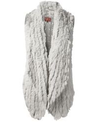 7 For All Mankind Gray Fur Gilet