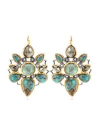 Alexis Bittar | Metallic Jardin De Papillon Mosaic Goldplated Earrings | Lyst