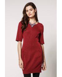 b161a380c4de Anthropologie Ganni Ponte Twinkle Dress in Red - Lyst