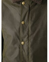 Barbour Green Hurricane Waxed Jacket for men