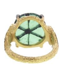 Cathy Waterman Green Leafside Ring