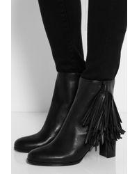 Christian Louboutin Black Jimmynetta 70 Fringed Leather Ankle Boots