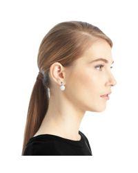 COACH - Metallic Pave Disc Drop Earrings - Lyst