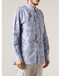 Comme des Garçons - Blue Printed Shirt for Men - Lyst