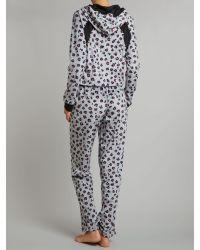 DKNY Gray Grey Animal Heather Long Sleeve Hooded Onesie