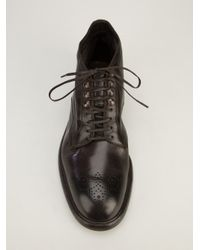 Dolce & Gabbana Brown Leather Ankle Boot for men