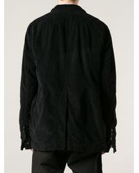 DRKSHDW by Rick Owens Black Button Up Blazer for men