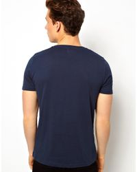 ASOS | Blue Tshirt Anchorman Print for Men | Lyst