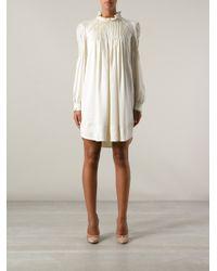 Étoile Isabel Marant White Long Sleeve Dress