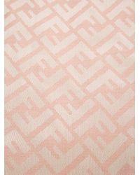 Fendi Pink Monogram Scarf