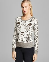 French Connection Natural Sweater Snow Tiger