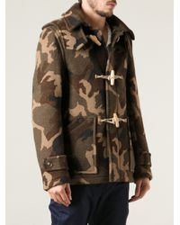 Harnold Brook Green Duffle Jacket for men