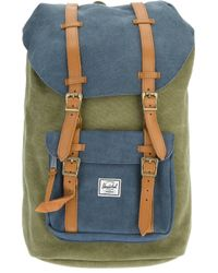 Lyst - Herschel Supply Co. Little America Backpack in Green for Men d0e0caa0c3