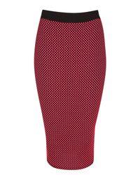 Jane Norman Multicolor Spot Pencil Skirt