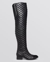 Jeffrey Campbell Black Over The Knee Boots Emastone Quilted
