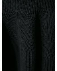 KENZO Black Knitted Ruffle Hem Skirt