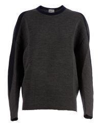 Kolor Gray Cocoon Sleeve Sweater