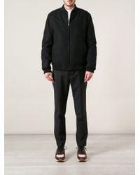 Kris Van Assche Black Bomber Jacket for men