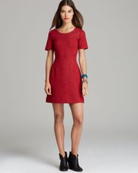 Marc By Marc Jacobs Red Dress Gertrude Double Face Wool