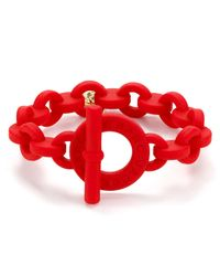 Marc By Marc Jacobs - Red Toggle Rubber Bracelet - Lyst