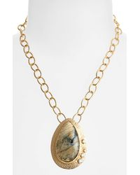 Melinda Maria | Metallic Stephanie Pendant Necklace | Lyst