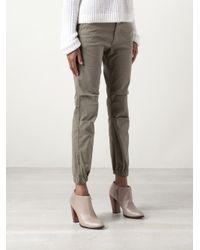 Nili Lotan Gray French Military Trouser