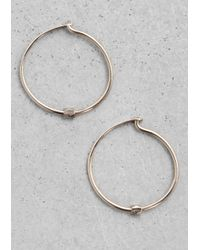 & Other Stories | Metallic Small Hoop Earrings | Lyst