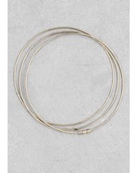 & Other Stories | Metallic Thin Brass Bangles | Lyst