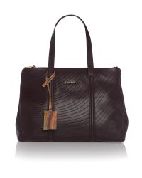 Paul Smith Purple Etched Swirl Tote Bag