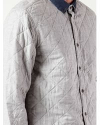Penfield Gray Harrison Quilted Shirt for men
