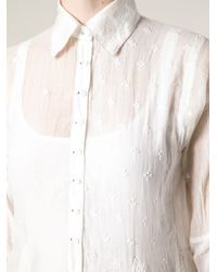 Péro White Crochet Blouse Dress