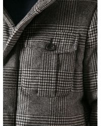 Peuterey Gray Houndstooth Check Print Jacket for men