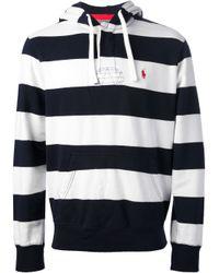 Polo Ralph Lauren Blue Striped Hoodie for men