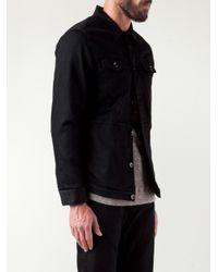 Robert Geller Black Trucker Jacket for men