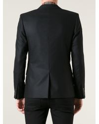 Saint Laurent Black Double Breasted Blazer for men