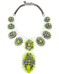 Shourouk | Yellow Mini Coddington Necklace | Lyst