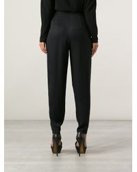 The Row Black High Waisted Cocoon Trouser