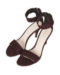 TOPSHOP Black Nina Single Sole Mid Heels