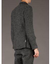 Undercover Gray Tweed Blazer for men