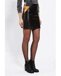 Urban Outfitters | Black Anchal X Urban Renewal Leather Skirt | Lyst