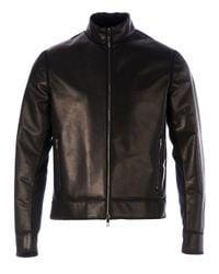 Valentino Black Calf Leather Jacket for men
