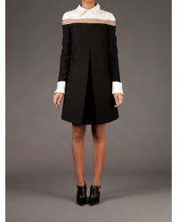 Valentino Black Colour Block Shirt Dress