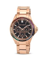 Vince Camuto Multicolor Crystal Dial Chronograph Watch 42mm